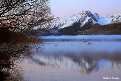 0S1A2663 (Steve Daggar) Tags: glenorchy newzealand sunrise landscape mountains snowcappedmountains reflections reflection lake queenstown