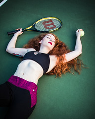 Miranda (rhn3photo) Tags: 2016 miranda september tennis ginger icelessglaciers redhead tenniscourt portrait sport outdor people