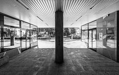 Velenje - Slovenija V (wigerl - herwig ster) Tags: wideangle fujixt1 licht gebude light lines linien foto sule blackandwhite slowenien samyang12mm black fuji velenje architecture europa weitwinkel europe bw slovenija