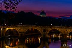dusk on the Tevere (Tiziano Photography) Tags: rome tevere dusck sunset river bridge landscape dome sky clouds nikond750 d750 nikon roma fiume crepuscolo tramonto cielo nuvole cupola paesaggio