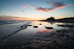 "Bamburgh Castle from Rock Pools at Sunrise • <a style=""font-size:0.8em;"" href=""https://www.flickr.com/photos/21540187@N07/8154194041/"" target=""_blank"">View on Flickr</a>"