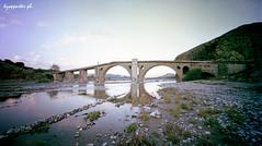 Sarakina (kzappaster) Tags: bridge reflection 120 film mediumformat holga kodak lofi pinhole greece reflexions cameraobscura stenope stonebridge kalambaka 160asa trikala thessaly pro160 sarakina 120wpc