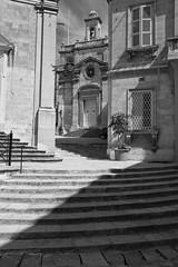 Alternation (archidave) Tags: city urban white black monochrome architecture steps angles chapel baroque townscape vittoriosa birgu