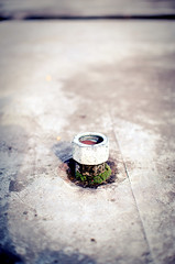 Exhaust (andersdenkend) Tags: old city urban abandoned fountain concrete dof bokeh decay brunnen pipe well depthoffield rohr vignetting exhaust beton nikkor50mmf12 nisen nikond700