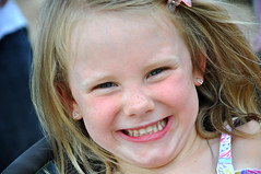 Happy Girl! (moorepix4u2c) Tags: portrait cute girl smile smiling happy child sweet joy adorable freckles littlesister bigsister younggirl thrilled happygirl contagioussmile happygolucky lovethatsmile blondehairandblueeyes blondehairblueeyesfreckles
