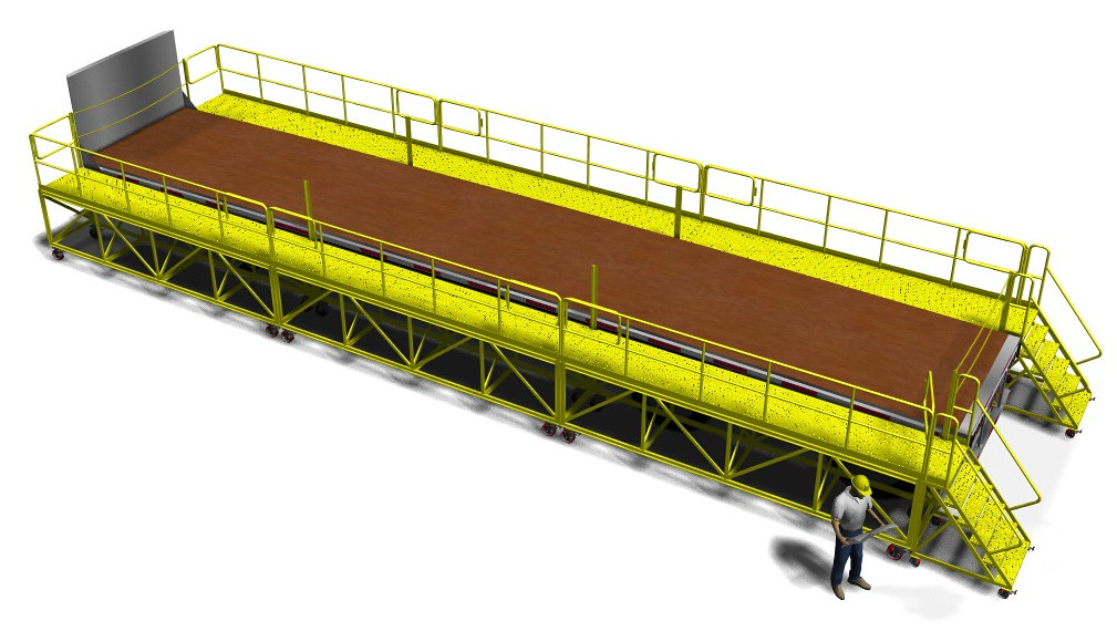 Flatbed Trailer Access Platform