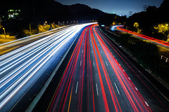 Hollywod Next 5 Exits (Bryan Nabong) Tags: california longexposure losangeles highway unitedstates headlights northamerica lighttrails geography southerncalifornia themes 112for2012