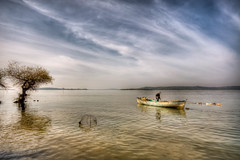 Ulubat Lake,Turkey (Nejdet Duzen) Tags: trip travel cloud lake tree turkey boat trkiye sandal bursa bulut aa gl turkei seyahat glyaz ulubatgl mygearandme