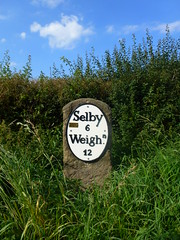 mile sign (seanofselby) Tags: stone market north mile duffield selby a163 weighton
