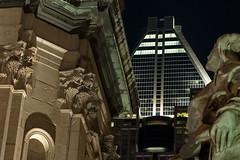 Les nouveaux maîtres (Luc Marc) Tags: city history architecture night cityscape montreal histoire legacy nuit ville patrimoine paysageurbain monréal