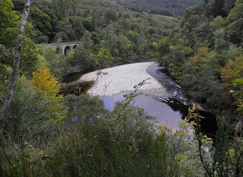 Killiecrankie viaduct and the River Garry