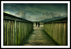 two (BettieBlu) Tags: sky colour vancouver clouds seaside scenery bc piers walkways paths eastvan peoople bettieblu