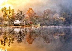 A Canvas on the Loch (version 2) (PeterYoung1.) Tags: autumn lake nature beautiful landscape scotland scenic ard lochard