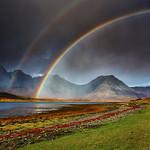 Double Rainbow on Blà Bheinn, Skye