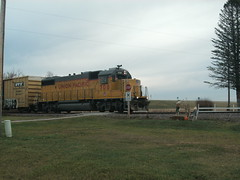 just passing through (BigJ1991) Tags: up creek train adams pacific sub union johnson wi lcomotive clyman
