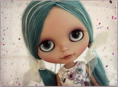 Zoe (*Sweet Days*) Tags: holiday alpaca sunshine doll sweet teal tan days blythe custom petite tanned suri rbl reroot sweetdays creayations