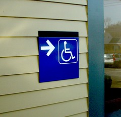 Exterior Accessibility Signage
