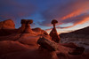 Toadstools Evening Glow (D Breezy - davidthompsonphotography.com) Tags: sunset arizona southwest utah page bootcamp hoodoos toadstools davidthompson escalantegrandstaircase