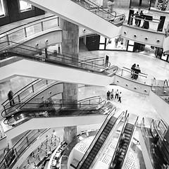 shopping mall (* onda *) Tags: bw stairs taipei