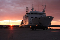 Ship docked at Happy Valley-Goose Bay, Labrador