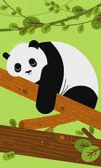Sleepy Panda animation (Sivan Baron) Tags: cutout panda flash jungle animation 2d vector hiccup animationdesign sivanbaron