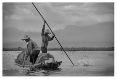 Inle lake (paolo paccagnella) Tags: light portrait sky blackandwhite bw panorama cloud lake clouds landscape lago boat photo fisherman paolo cloudy photos burma best bn myanmar inlelake bianco lux nero paesaggio biancoenero shanstate photoofthemonth indocina canonequipment photoinbw canonef70200mmf4isusm canoneos7d photowhiteandblack photoinblackandwhite phpph phpphotography phpph2012 phpphotographycom