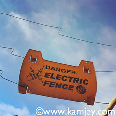 shock anyone? (kamjey) Tags: africa warning namibia electricfence walvisbay