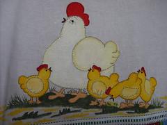 Família reunida (Pintura em tecido. Panos de prato.) Tags: