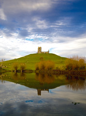 Floods at Burrow Mump 2 (c.richard) Tags: church flood ruin somerset nationaltrust sacredsite burrowmump somersetlevels isleofavalon somersetfloods