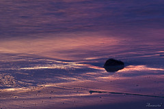 Violet colours (amaurea2310) Tags: sunset sea espaa praia beach water rock stone canon atardecer mar spain agua violet sigma playa canoneos20d galicia galiza pedra ocaso lusco pontevedra magichour violeta penedo piedra auga solpor morado beluso bueu luscofusco sigma70300 seixo ancoradouro sigma70300f456dgmacro natureplus horamgica caboudra colourartaward horamxica