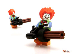 Evil Clown ft. The Minigun (ZetoVince) Tags: greek lego clown vince minifig minigun zeto gricks zetovince