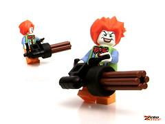 Evil Clown ft. The Minigun (ZetoVince) Tags: greek lego clown vince minifig minigun zeto gricks zetovince