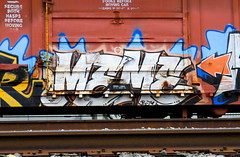 MEME (Hunter Photography !) Tags: usa train graffiti meme ff freight hunterphotography benching fewandfar