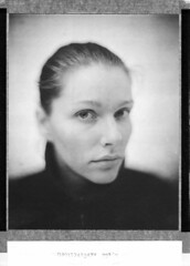 Alex (Braca Nadezdic) Tags: portrait blackandwhite bw girl polaroid kodak bokeh 8x10 expired 803 sinar aeroektar polaroid8x10