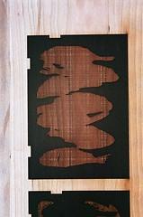 08950004-16 (jjldickinson) Tags: olympusom1 fujicolorsuperiaxtra400 roll395 promastermcautozoommacro2870mmf2842 promasterspectrum772mmuv kilroyairportcenter parkinggarage print printmaking card laserengraving cherry wood woodblock carving mokuhanga yellow longbeach