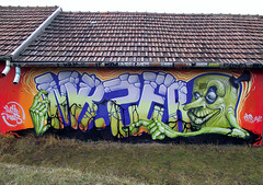 sINKing (mrzero) Tags: trees ink writing graffiti character letters spray spraypaint spraycan 2012 hustle trainline cfs lrg mrzero coloredeffects inkstinct