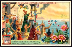 Liebig Tradecard S927 - Egyptian Flower Festival (cigcardpix) Tags: tradecards advertising ephemera vintage chromo liebig