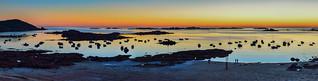 AC22565 - Couché de Soleil sur les Iles Milliau et Molène