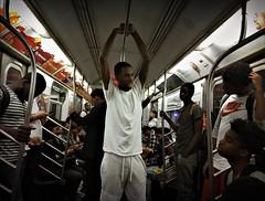 WGUT5176 (john fullard) Tags: city nyc urban newyork color colour train underground subway carriage metro candid july passengers mat commuters 2016 phoneshots iphone6 hipstamatic