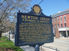 Historical Marker, April 17,2016 (rustyrust1996) Tags: sussexcounty newton newjersey newtongreen historicalmarker courthouse