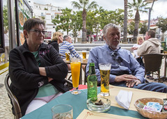 Family (Hans van der Boom) Tags: europe portugal algarve vacation holiday albufeira sijbrand janny brother people drinks caf pt