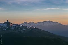 Alpine sunset (Ronia Nash) Tags: sunset mountains alpenglow inukshuk whistler peaks colour