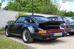 Porsche 911 Turbo 930 (Monde-Auto Passion Photos) Tags: auto automobile porsche 911 turbo 930 noir coup sportive france barbizon