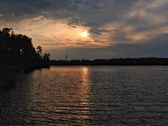 The sun is going down (KaarinaT) Tags: evening serene cloudy helsinki laajasalo finland