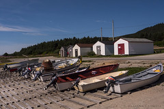 waiting for better days (marianna_away for a while) Tags: mariannaarmata fishing village dock port little hull boat hut newfoundland canada