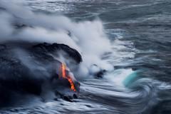 A Typical Lava Photo (Raiatea Arcuri) Tags: 61g kamokuna oceanentry lava volcano kilauea kalapana wave hawaii bigisland