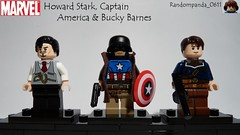 Howard Stark, Captain America & Bucky Barnes (Random_Panda) Tags: lego fig figs figures figure minifig minifigs minifigure minifigures characters character marvel comics superhero superheroes hero heroes super comic book books winter soldier bucky barnes captain america howard stark