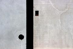 Concrete Pong (mikkelfrimerrasmussen) Tags: concrete pong ball paddle computer game minimalism grey gray black copper red shadows holes round rectangle tmmergraven beton konstruktion huller kobber skygge spil
