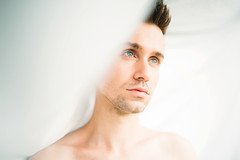 (Steven Sites) Tags: canon eos 5d mark iii sigma 50mm f14 man boy guy portrait white skin nude naked lgbt gay twink eyes blue sheet light