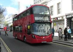 VH38124, Pembridge Road, Notting Hill, London, 23/04/16 (aecregent) Tags: 230416 londonbuses2016 london pembridgeroad nottinghill towertransit volvo b5lh hybrid wright gemini3 vh vh38124 bu16uxr 328